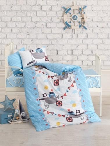 Cotton Box Ranforce Bebek Nevresim Takımı %100 Pamuk Gemici Renkli